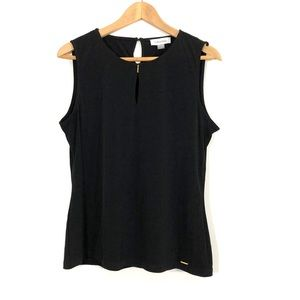 Calvin Klein Black Keyhole Sleeveless Top
